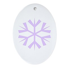 Purple Snowflake Oval Ornament