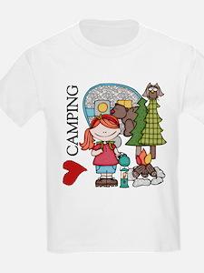 Redhead Girl Loves Camping T-Shirt