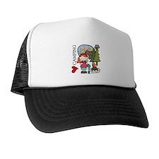 Redhead Girl Loves Camping Trucker Hat