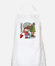 Redhead Girl Loves Camping Apron