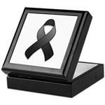 Black Awareness Ribbon Keepsake Box