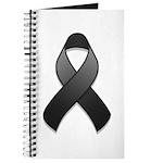 Black Awareness Ribbon Journal