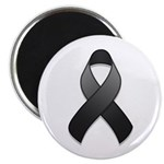 Black Awareness Ribbon Magnet