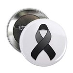 "Black Awareness Ribbon 2.25"" Button (10 pack)"