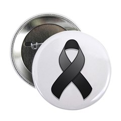 Black Awareness Ribbon Button