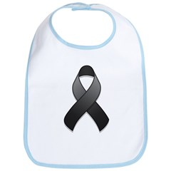 Black Awareness Ribbon Bib