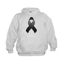 Black Awareness Ribbon Hoodie