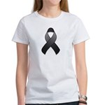 Black Awareness Ribbon Women's T-Shirt