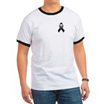 Black Awareness Ribbon Ringer T