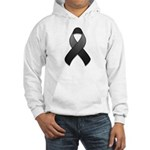 Black Awareness Ribbon Hooded Sweatshirt