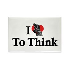 I Love To Think Rectangle Magnet (10 pack)