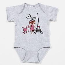 Red Haired Diva Baby Bodysuit
