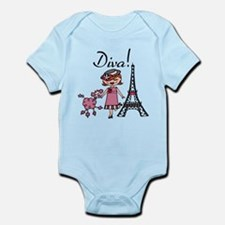 Red Haired Diva Infant Bodysuit