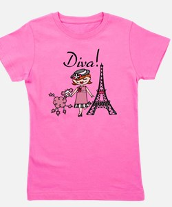 Red Haired Diva Girl's Tee
