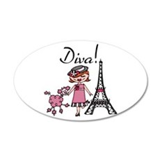Red Haired Diva Wall Decal