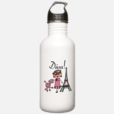 Red Haired Diva Water Bottle