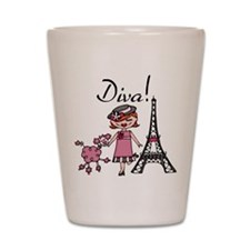 Red Haired Diva Shot Glass