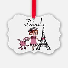 Red Haired Diva Ornament