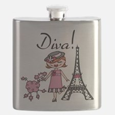 Red Haired Diva Flask