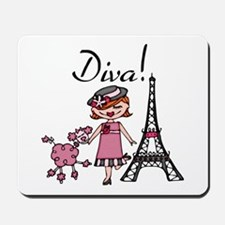 Red Haired Diva Mousepad