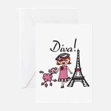 Red Haired Diva Greeting Cards (Pk of 10)