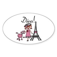 Red Haired Diva Decal