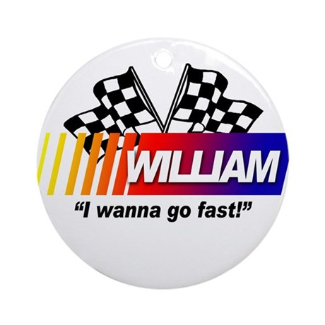 Racing - William Ornament (Round)