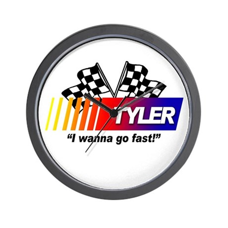 Racing - Tyler Wall Clock