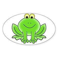 Cartoon Frog Decal