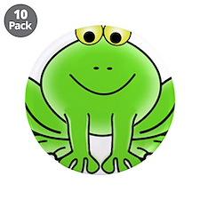 "Cartoon Frog 3.5"" Button (10 pack)"