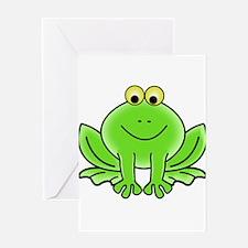 Cartoon Frog Greeting Card