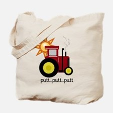 Red Putt Putt Tractor Tote Bag