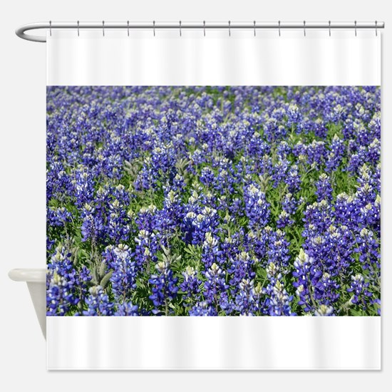 Field of Texas Bluebonnets Shower Curtain