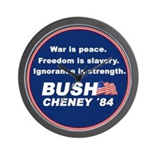 """Bush/Cheney '84"" Wall Clock"
