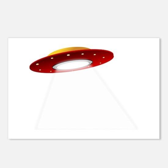 UFO Spaceship Postcards (Package of 8)