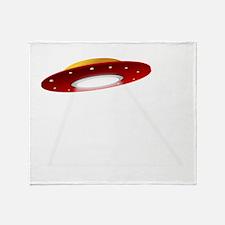 UFO Spaceship Throw Blanket