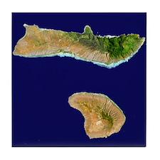 Moloka`i & Lana`i from Landsat Tile Coaster