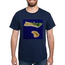 Moloka`i & Lana`i from Landsat T-Shirt