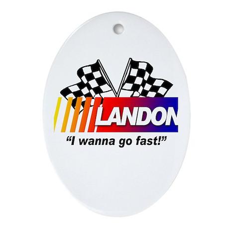 Racing - Landon Oval Ornament