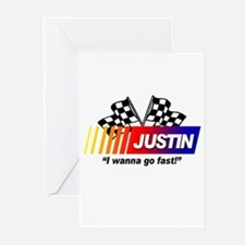 Racing - Justin Greeting Cards (Pk of 10)