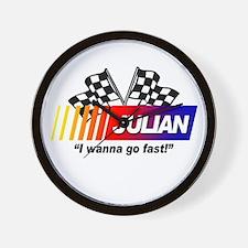 Racing - Julian Wall Clock