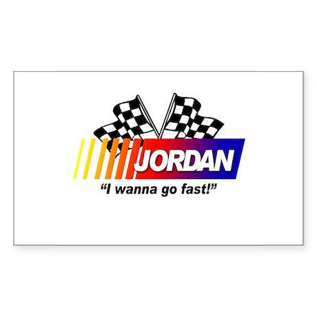 Racing - Jordan Rectangle Sticker