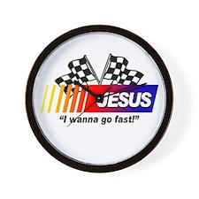 Racing - Jesus Wall Clock