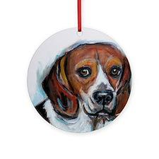 Beagle love smile Ornament (Round)
