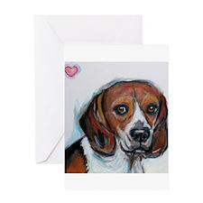 Beagle love smile Greeting Card