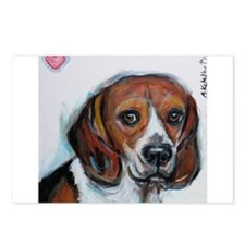 Beagle love smile Postcards (Package of 8)