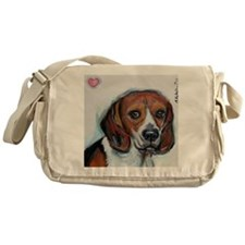 Beagle love smile Messenger Bag