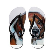Beagle love smile Flip Flops