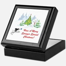 Christmas Springer Spaniel Keepsake Box