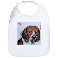 Beagle love smile Bib